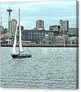Seattle Sail Canvas Print