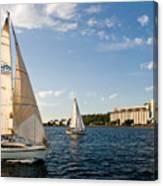 Seattle Silos Sail Canvas Print