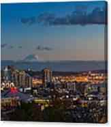 Seattle Skyline Panorama Canvas Print