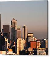 Seattle Sunset Panorama Canvas Print