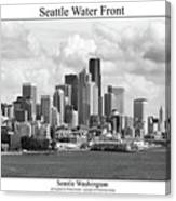 Seattle Water Front Canvas Print