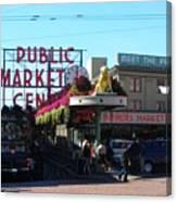 Seattle's Pike Place Market Center  Canvas Print