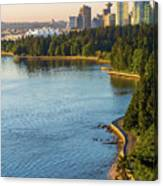 Seawall Along Stanley Park In Vancouver Bc Canvas Print