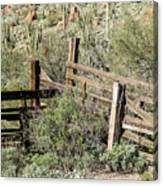 Secluded Historic Corral In Sonoran Desert Canvas Print