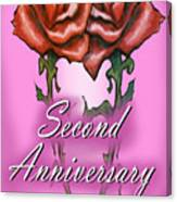 Second Anniversary Canvas Print