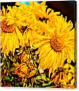Flowers - Second Life Canvas Print