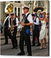 Second Line Wedding On Bourbon Street New Orleans Canvas Print