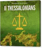 Second Thessalonians Books Of The Bible Series New Testament Minimal Poster Art Number 14 Canvas Print