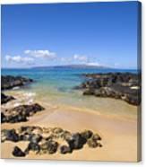 Secret Beach Of Kahoolawe And Molokini Canvas Print