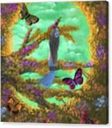 Secret Butterfly Garden Canvas Print
