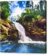 Secret Falls Canvas Print