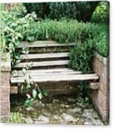Secret Garden Bench Canvas Print