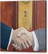 Secret Handshake Canvas Print
