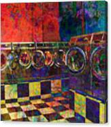 Secret Life Of Laundromats Canvas Print