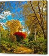 Secret Path At Lafayette Park Landscape Canvas Print