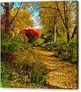 Secret Path Fall Perfection  Canvas Print