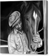 Secretariat And His Groom Canvas Print