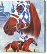 Secretariat Racehorse Portrait Canvas Print