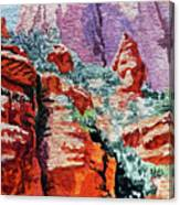 Sedona Arizona Rocky Canyon Canvas Print