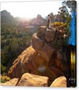 Sedona Day And Night Canvas Print
