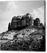 Sedona In Black And White Canvas Print