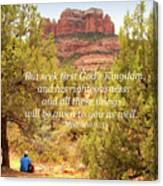 Seek First God's Kingdom Canvas Print