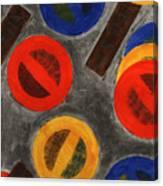 Segments 4 Canvas Print
