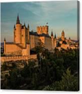 Segovia Alcazar And Cathedral Golden Hour Canvas Print