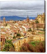 Segovia Cathedral View Canvas Print