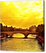 Seine View Canvas Print