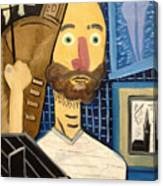 Self-portrait As Homage To Picasso Canvas Print