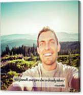 Self Portrait From A Mountain Top Canvas Print