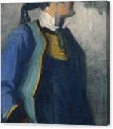 Self-portrait In Bretonnian Garb Canvas Print