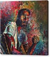 Self Portrait In Progress Canvas Print