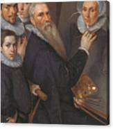 Self Portrait Of The Painter And His Family Canvas Print