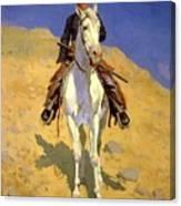 Self Portrait On A Horse 1890 Canvas Print