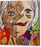 self portrait Picasso style Canvas Print
