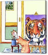 Self Portrait, Tiger Canvas Print