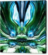 Self Reflection - Blue Green Canvas Print