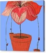 Self-seeding Pot Plants Canvas Print