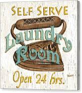 Self Serve Laundry Canvas Print