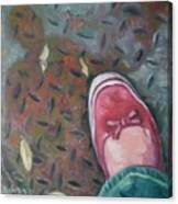 Selfportrait Red Shoe Canvas Print