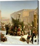 Selling Christmas Trees Canvas Print