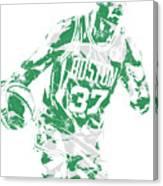 Semi Ojeleye Boston Celtics Pixel Art 2 Canvas Print