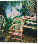Seminole Indian Made Outdoor Furniture Canvas Print
