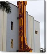 Seminole Theatre 1940 Canvas Print