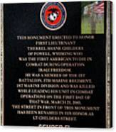 Semper Fi To The 1st Man Down In Iraqi Freedom Plaque Canvas Print