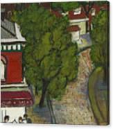 Seneca And Aurora St Ithaca New York Canvas Print
