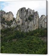 Seneca Rocks Wv Canvas Print