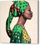 Senegalese Woman Canvas Print